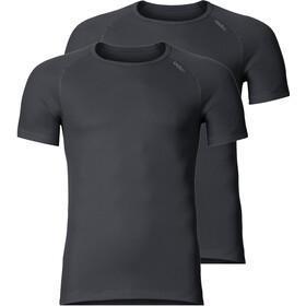 Odlo Active Cubic Light S/S Crew Neck Shirt Men 2 Pack ebony grey/black